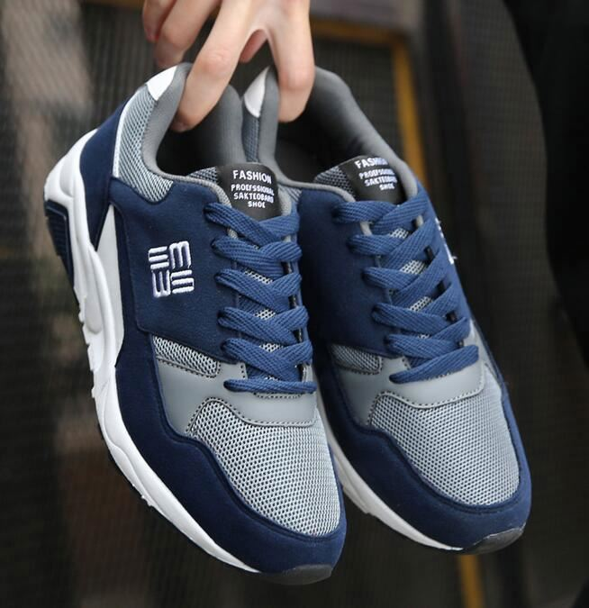 High quality fashion male walking comfortable casual men sport shoes