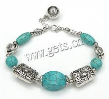 Zinc Alloy turquoise native howlite Bracelets turquoise native howlite beaded bracelet 4-20mm Sold Per 8 Inch 639120