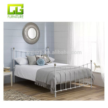 4ft6 double white Metal Bed hot sales metal bed for UK