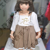 autumn baby boutique cotton lace dresss wholesale ruffle dress smocking dress