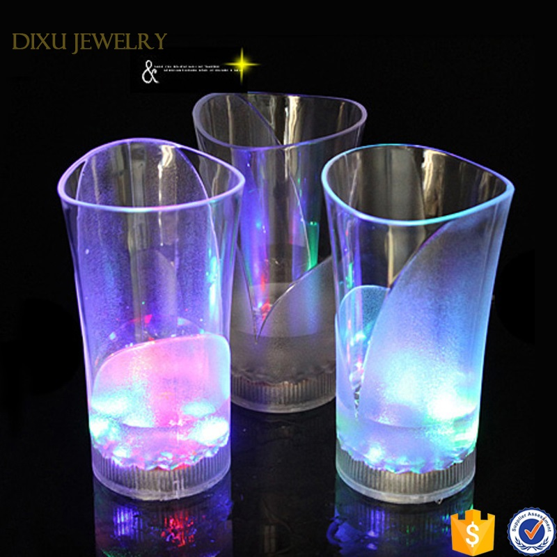 Party Novelty Flashing Color Changing Bar Plastic Led Light Cup
