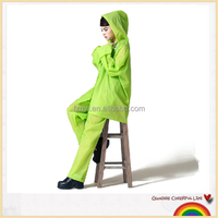 ladies jelly suit design waterproof breathable rain suit