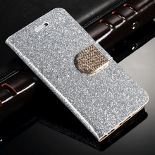 Luxury Bling PU Leather Magnetic Flip Stand Wallet Case For iphone for samsung Various Phone