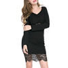 Hot Sale Slim Mature Women Formal Lace Casual Dress