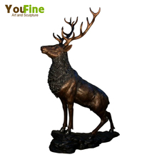 Forest Sculpture Life Size Brass Animal Deer Statue