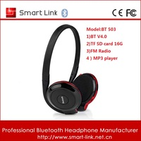 Best sport Handsfree stereo bluetooth headset with mp3 player support TF 16GB SD card and FM Radio