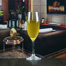 Transparent champagne flutes glass customized size