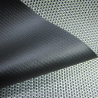 420D PVC double color black silk pips fabric