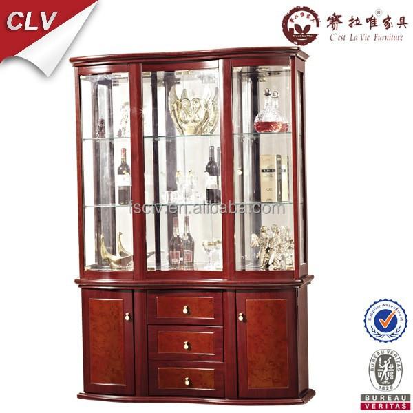 Vintage Furniture,glass Living Room Showcase Design Wood