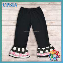 wholesale baby ruffle pants 100% cotton baby pants with polka dot pattern baby leggings