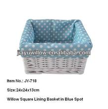 Wholesale natural lined wicker small storage basket