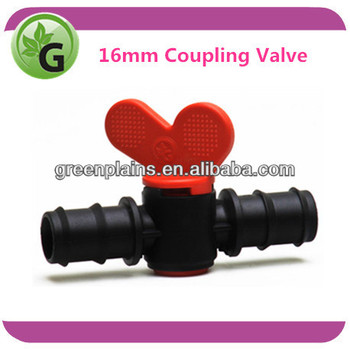 Plastic irrigation mini Valves 16mm Coupling Valve