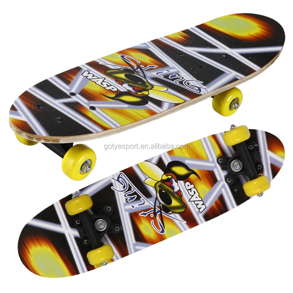 2106SC-1VC4828A chinese maple wooden four pvc wheel kid mini graphic skateboard