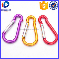 Alumimum Spring Loaded gate Screw Lock Carabiners Key Holder
