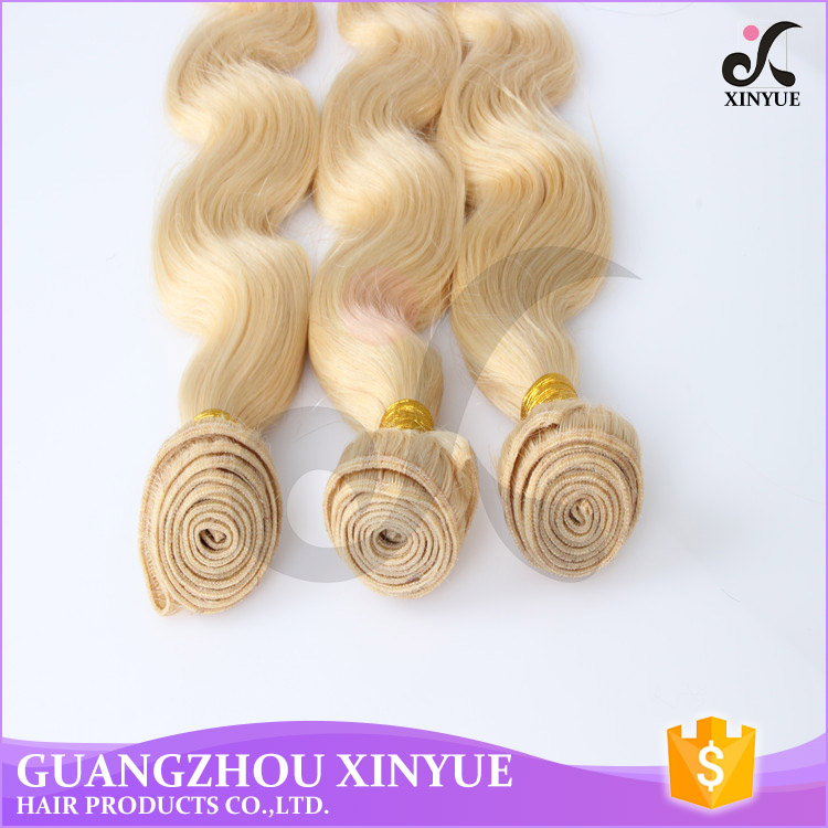 Loose wave #613 color names of synthetic hair extension blonde remy hair for weaving