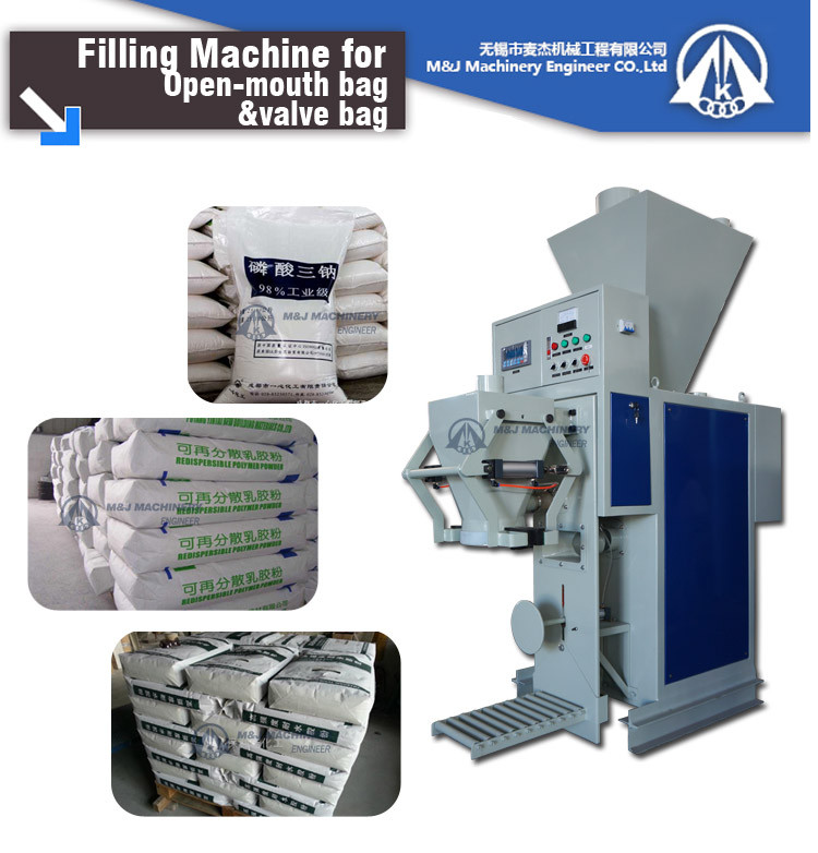 valve bagging machine for tile adhesive auger feeder