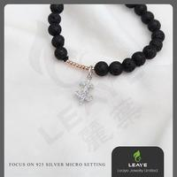 Hot selling mens beaded bracelet with low price