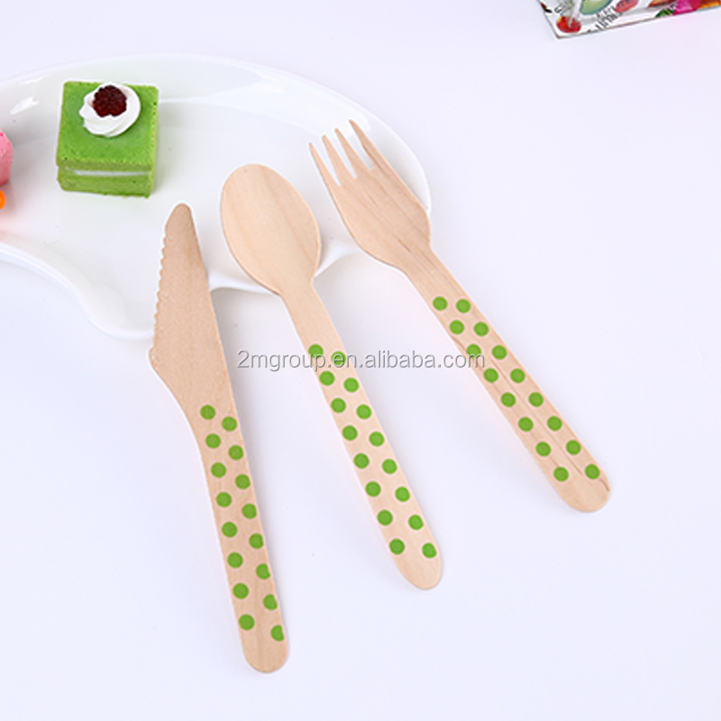 Disposable Wooden Cutlery Set /Spoon /Fork /Knife for Birthday Party