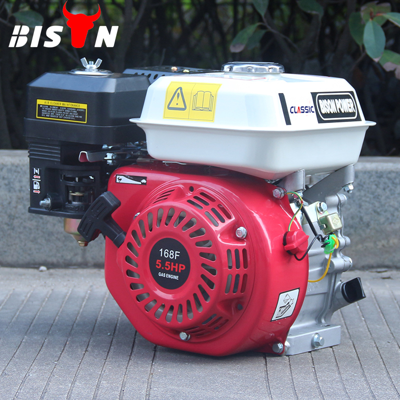 BS168FH Red BISON China Taizhou 4-stroke 5.5hp Small Cheap Gasoline Petrol Engine 168f