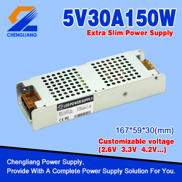1U Low Profile Power Supply 5V 40A 200W for LED
