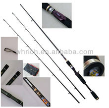 RRC001A 1.98m Rare spinning fishing rod with 2tips Japanese 3A EVA split handle design