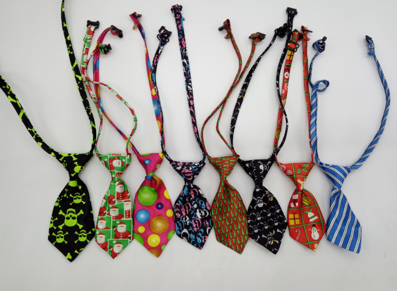 Fashion polyester print popular pet cat dog tie bow ties