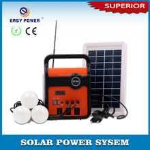New design solar panel lighting system with TF/USB speaker, monitor,charging mobile