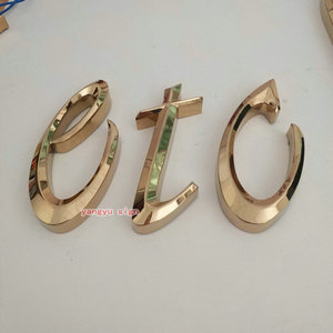3d Custom Stainless Steel Galvanized Metal Letter