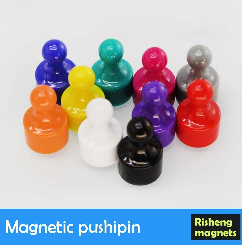 Colourful magnetic push pin whiteboard magnet button