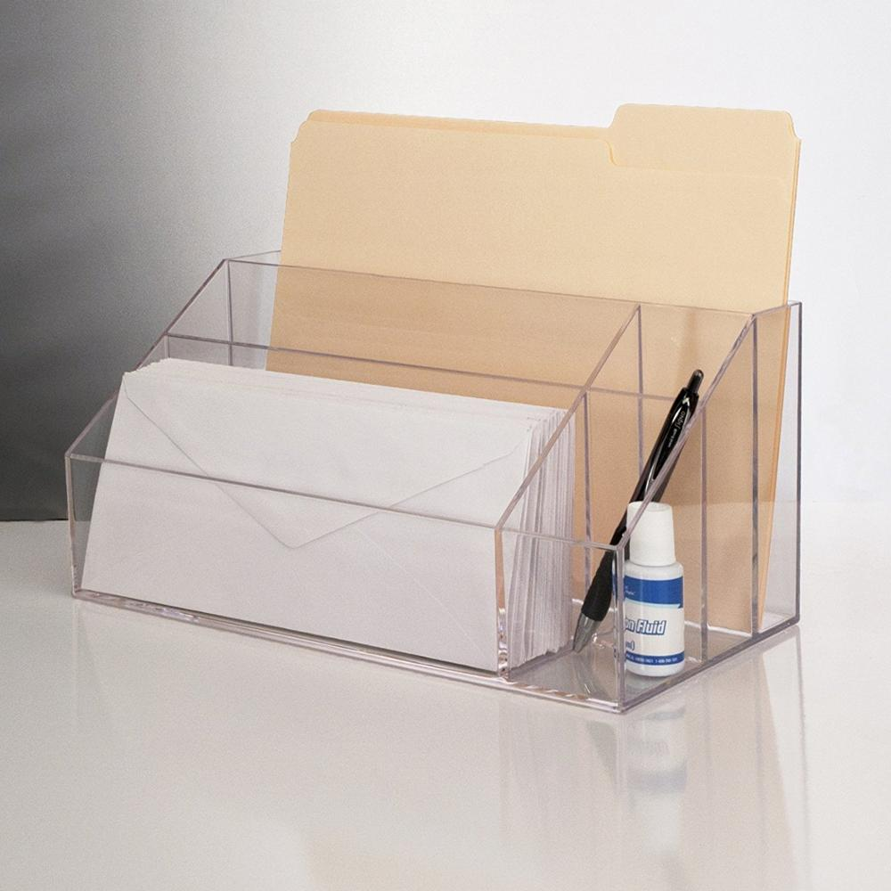 Clear Acrylic Office Desk Accessories File Box Organizer Wholesale