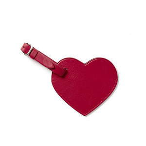Leather Wedding Favor, Leather Wedding Luggage Tag with Heart Shape Wholesale
