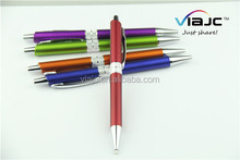New design promotional metal pen with gripper in proper price