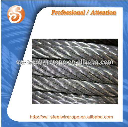 Galvanized wire rope and cable