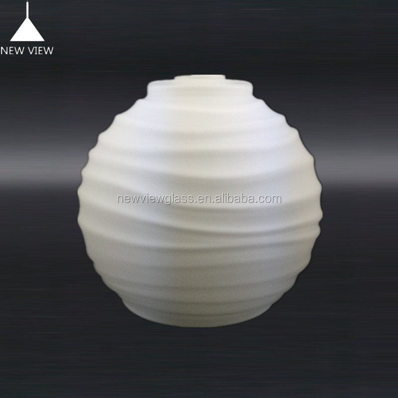 OPAL WHITE ROUND GLASS LAMP SHADE/MILKY GLASS BALL