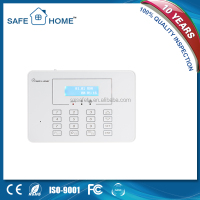 LCD display touch keypad smart home 433/315mhz frequency gsm security alarm system