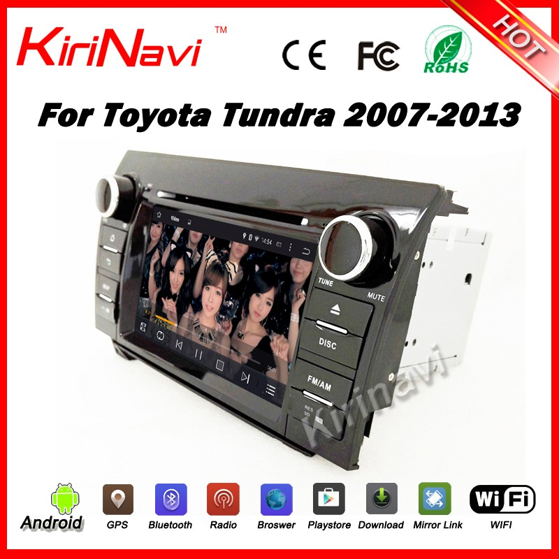 "Kirinavi WC-TT7067 7"" android 5.1 car navigation gps for toyota tundra 2007-2013 car dvd player android navigation gps wifi 3g"