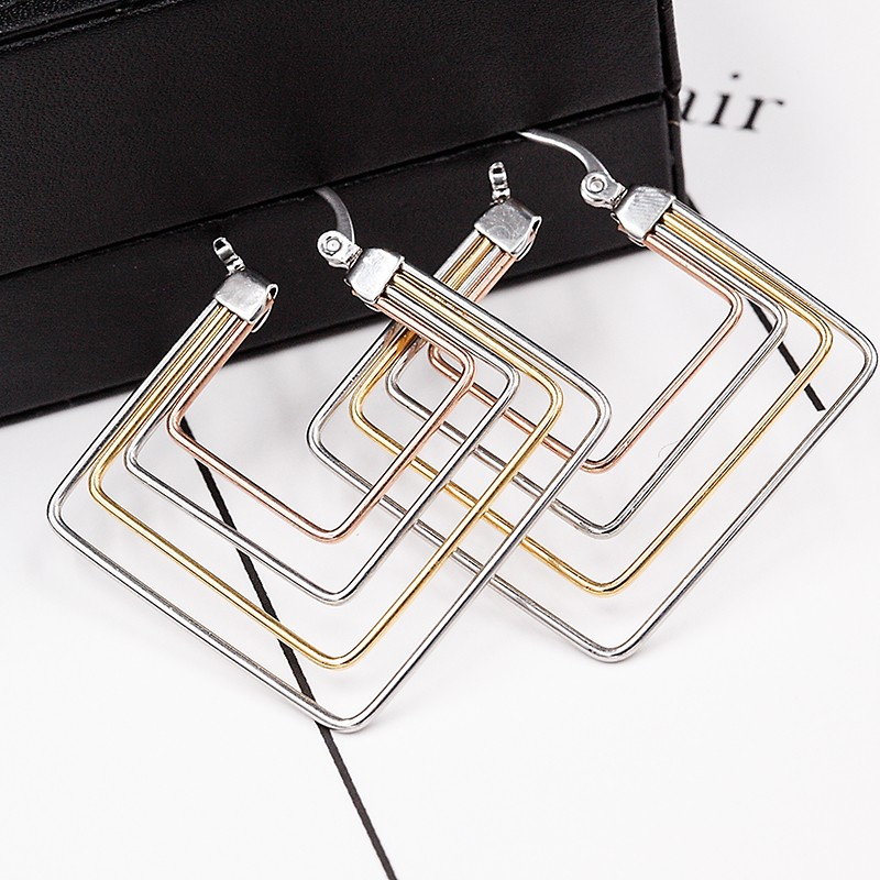 316L Stainless Steel Latest Fancy Gold Earring Designs For Women Models