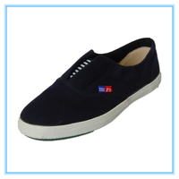 Warrior fashion step-in rubber-soled canvas shoes art color Sea Blue