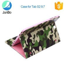 with 3 card slots/1 slip pocket army green popular style PU flip leather stand case for Samsung Galaxy Tab s2 9.7