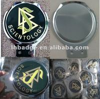 epoxy domed metal badge, auto badge