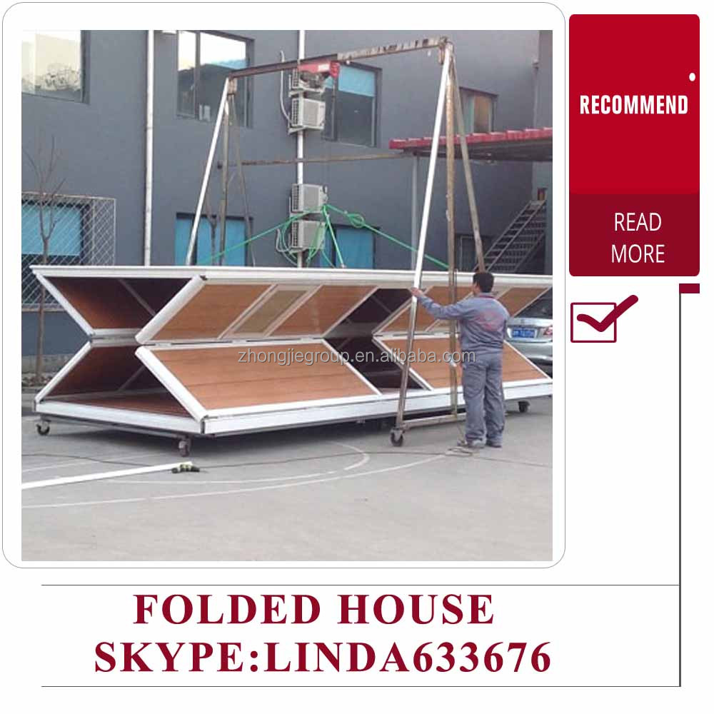 flat packed container house design / sandwich panel container cabin