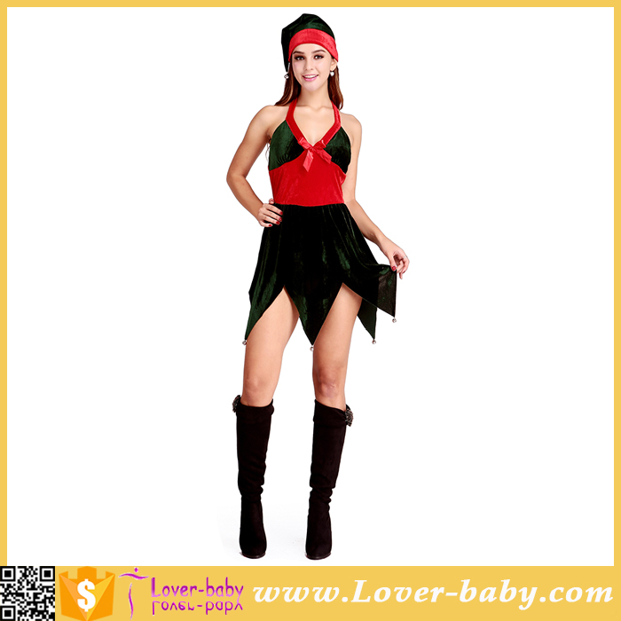 Hot Green Tree Fancy Christmas Elf Costumes