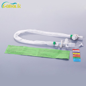 hospital adult infant disposable suction catheter closed control valve