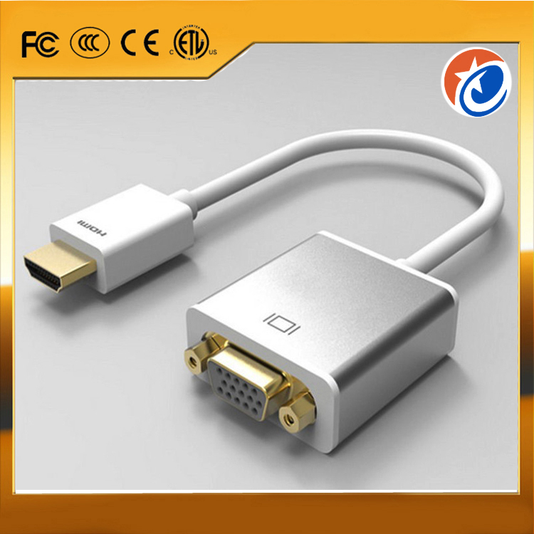 TOP Quality 1080P HDMI Male to VGA Male Converter Adapter Cable for PS3 HDTV