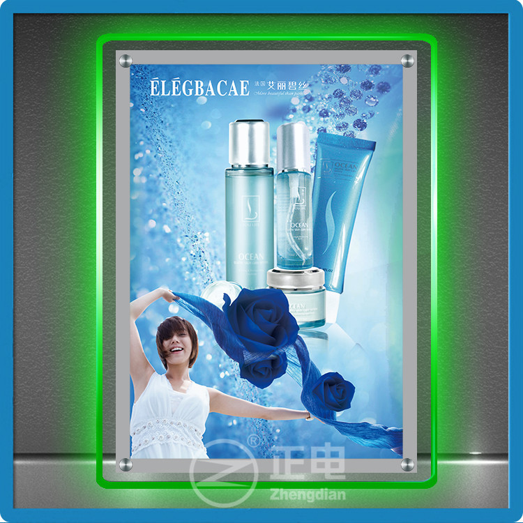 Hot Sales ZD Menu Light Box 90 Flashing Modes A4 LED Display Panel Acrylic Panel A4 LED Window Display
