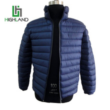 Wholesale Winter Warm Down Simple Stand Up Collar Short Coat Thick Folder Jacket For Men