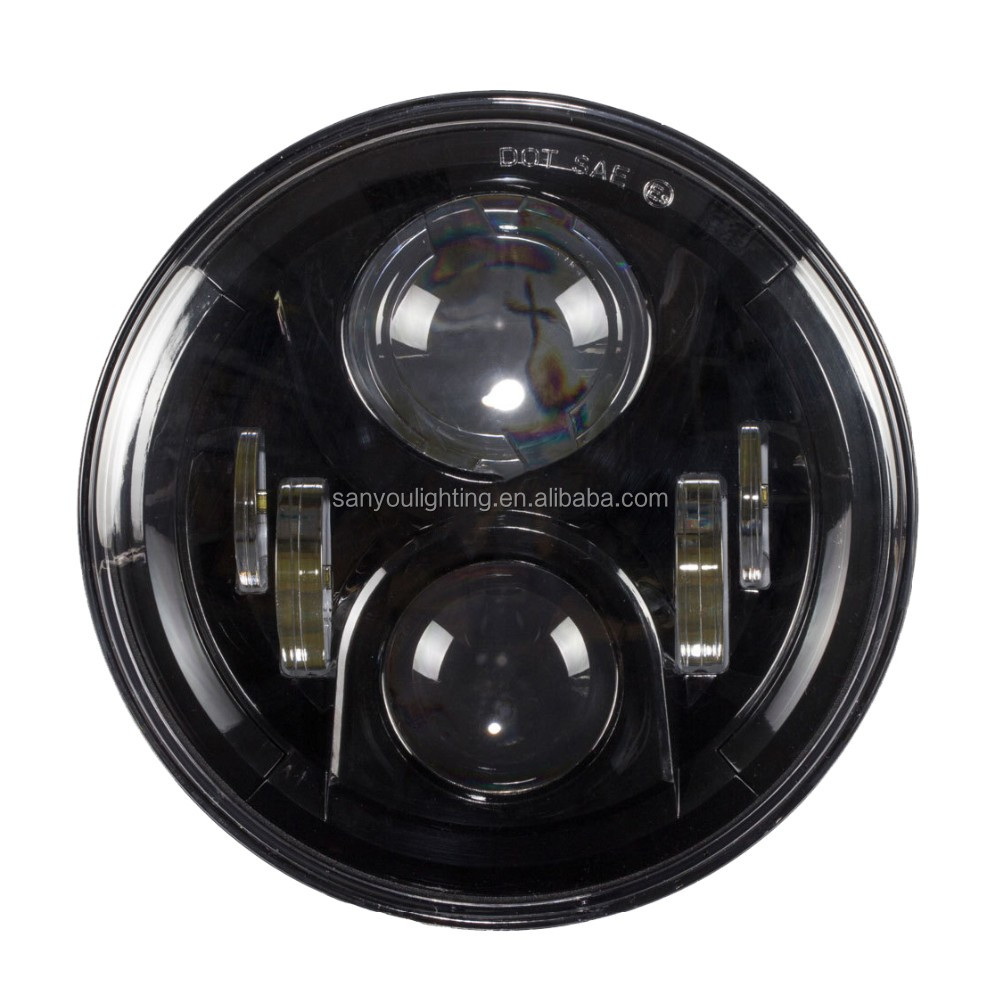 popular 7'' H/L Beam led headlight for jeep/harley motorcycle 30W