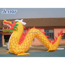 Advertising Inflatable Chinese Style Golden Dragon for Promotion