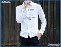 White shirt fabric men's shirt dyed and printed polyester/cotton fabric clothes shirting