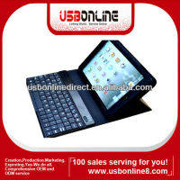 Wholesales Wireless Bluetooth Keyboard for iPad mini Keyboard PU Leather Cover Case Stand